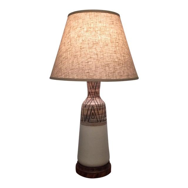 Mid-Century Vontury Porcelain Lamp - Image 4 of 7