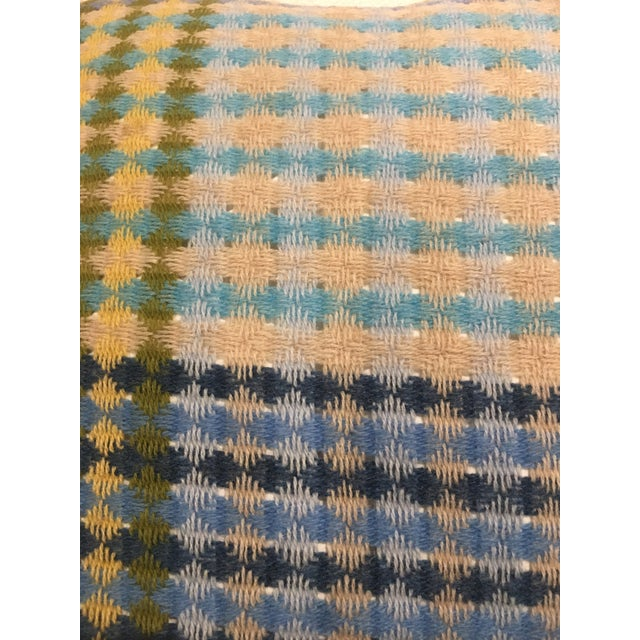 Missoni Blue & Yellow Wool Pillow - Image 5 of 6