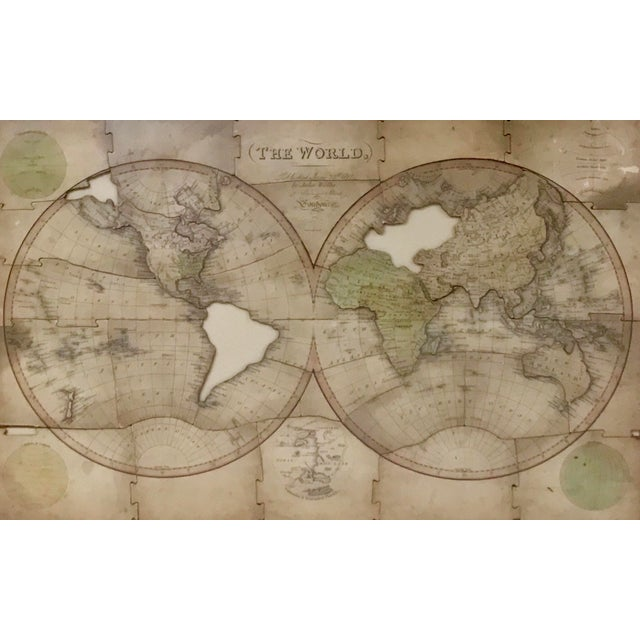 One of the the Earliest Surviving Examples of A Puzzle Map of 'THE WORLD' London 1812 Medium: 1 jigsaw puzzle (ca. 31...