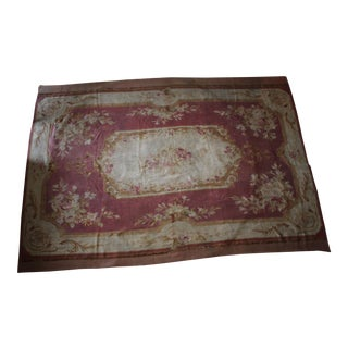 """Antique French Aubusson Rug - 8' x 10'6"""""""