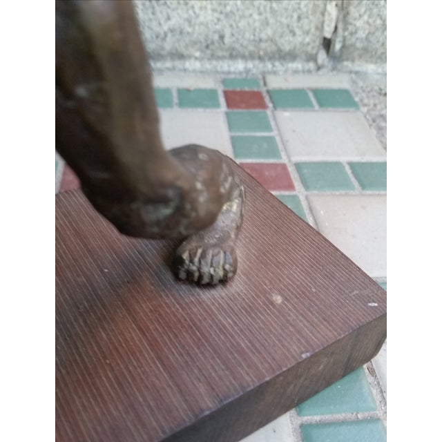 Brutalist Nude Male Bronze Sculpture - Image 7 of 9