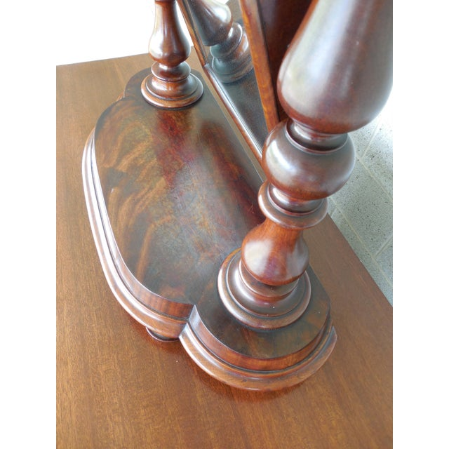 Antique Empire Period Mahogany Dressing Mirror For Sale - Image 10 of 13