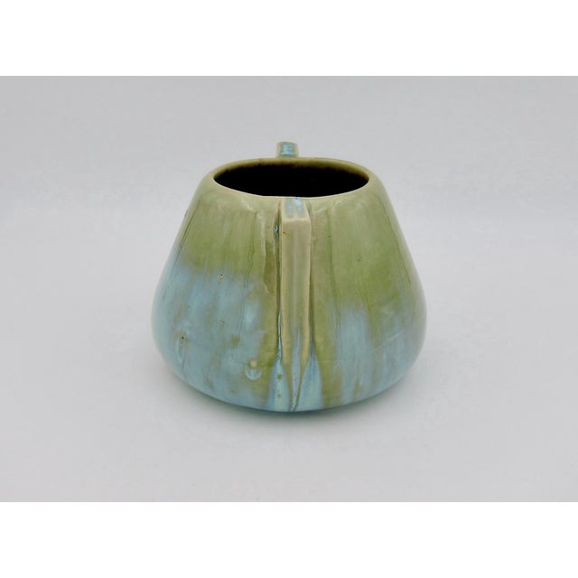 Ceramic Vintage Fulper Pottery Arts & Crafts Double Handled Vase With Flambé Glaze For Sale - Image 7 of 11