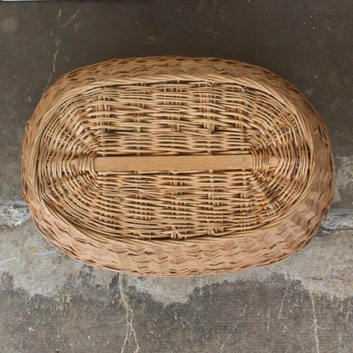 Oval Vintage French Laundry Basket - Image 7 of 8