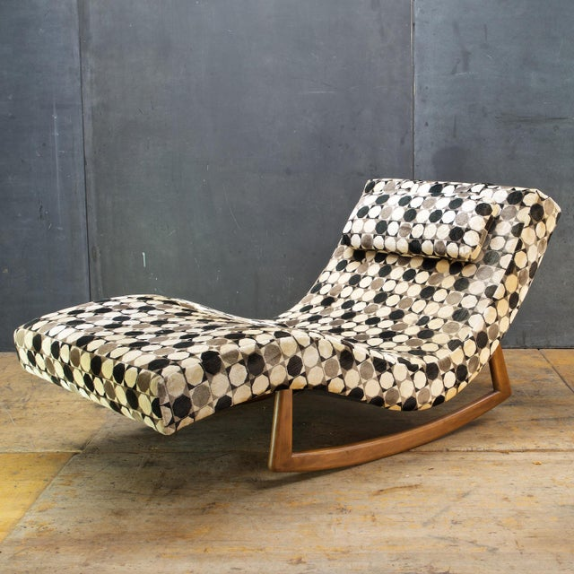 1970s Adrian Pearsall Wave Rocker Chaise Rocking Chair For Sale - Image 5 of 9