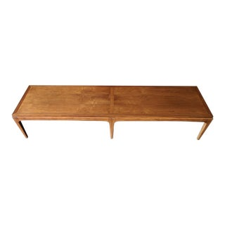 Mid Century Refinished Walnut Coffee Table by Lane Furniture, Rhythm Series