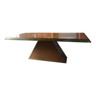Mid-Century Ziggurat Pedestal Dining Table For Sale
