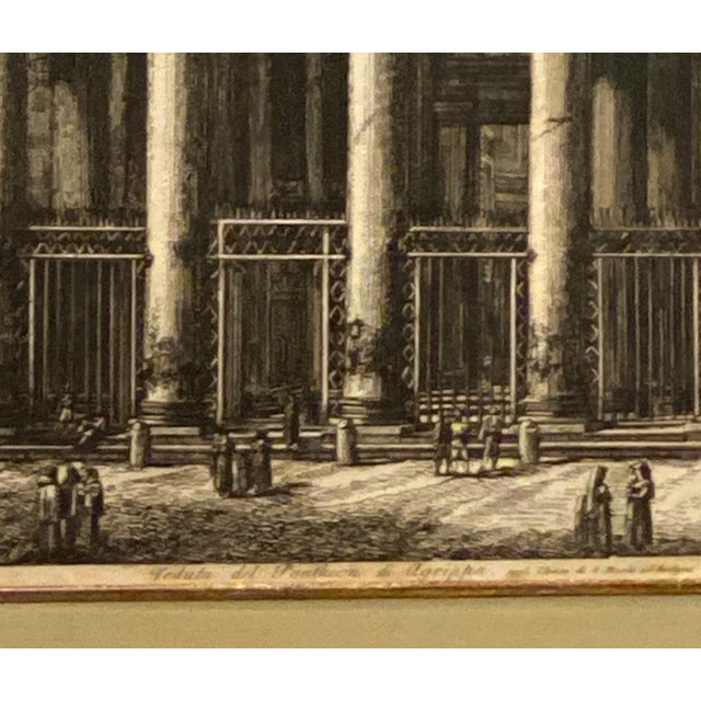 Italian Piranesi Etching of the Pantheon, Circa 18th Century For Sale - Image 3 of 6
