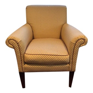 Hitchcock Arm Chair with Mahogany Legs For Sale