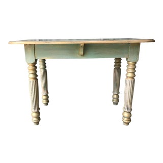 Shabby Chic Greenish Patina Table For Sale