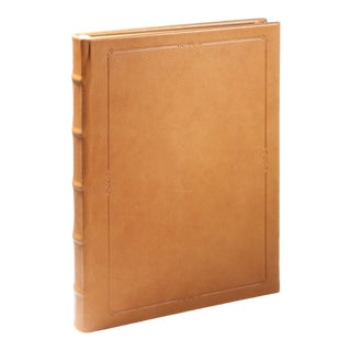 Large Hardcover Journal, Calfskin in British Tan For Sale