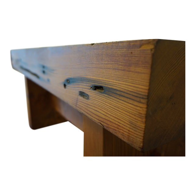 Modern Handmade Redwood Russian River Bench For Sale In San Francisco - Image 6 of 6