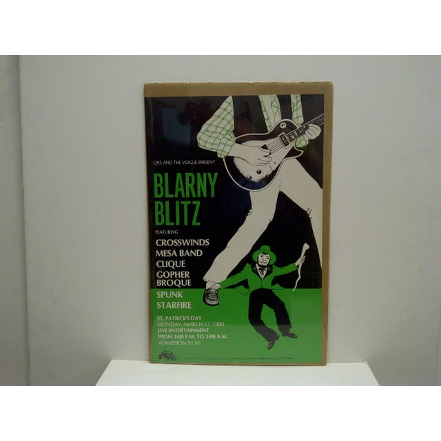 "This is a Vintage Poster -- ""Blarny Blitz"" Concert Series Poster -- St. Patrick's Day -- 1980 -- The Poster Is Shrink-..."