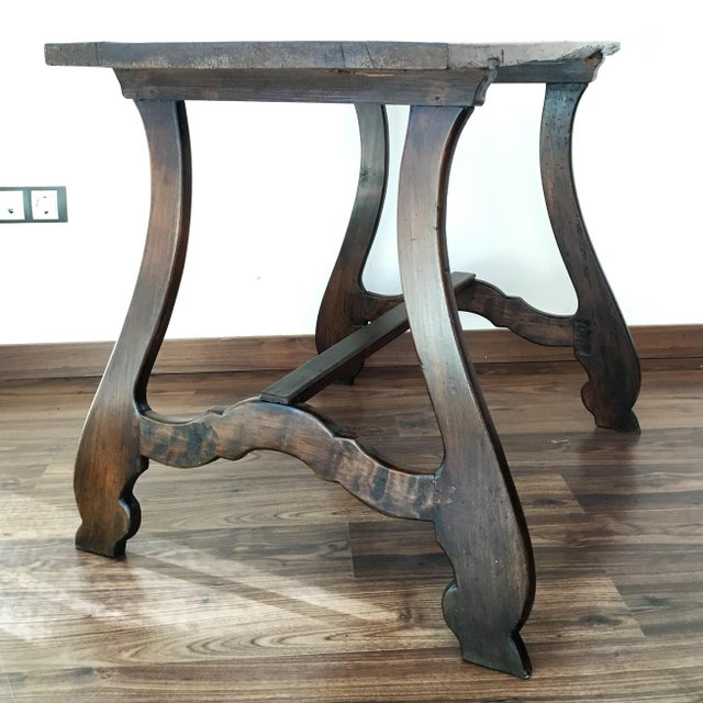 19th Spanish Farm Table or Desk Table For Sale In Miami - Image 6 of 11