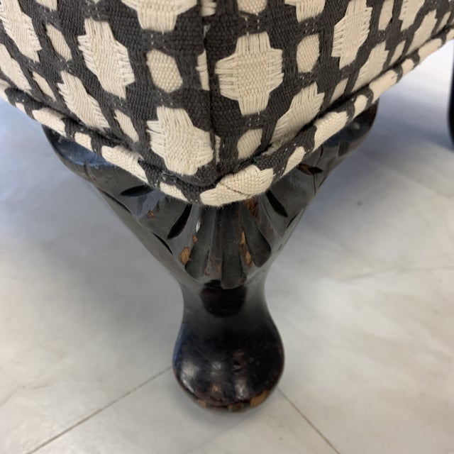 1960s Schumacher Betwixt Vintage Foot Stool For Sale - Image 5 of 13