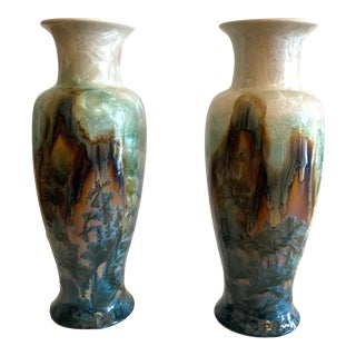 Late 20th Century Multi-Colored Resin Vases - A Pair For Sale
