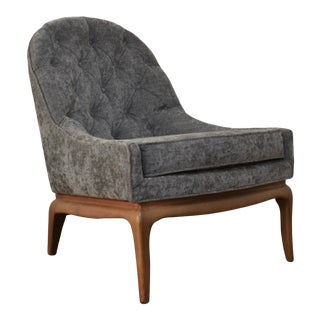 Tufted Slipper Chair by Widdicomb For Sale