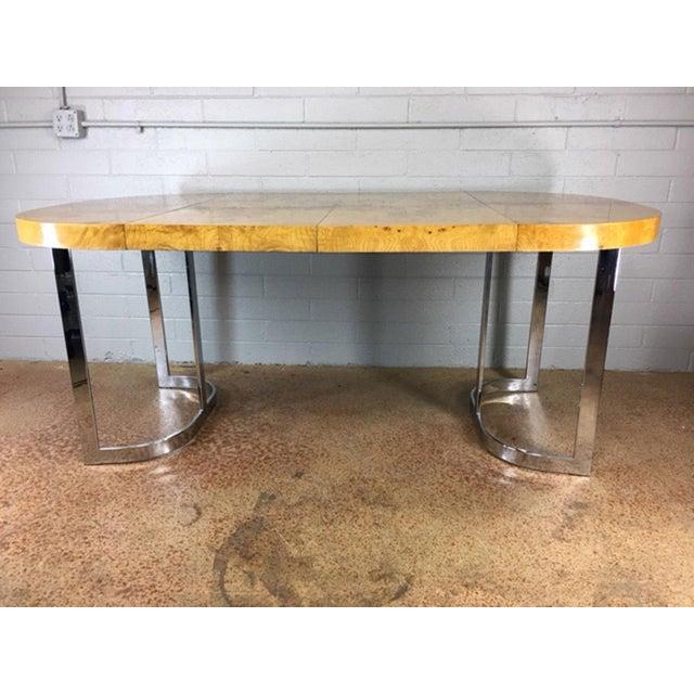 Milo Baughman Burlwood Dining Table - Image 3 of 10