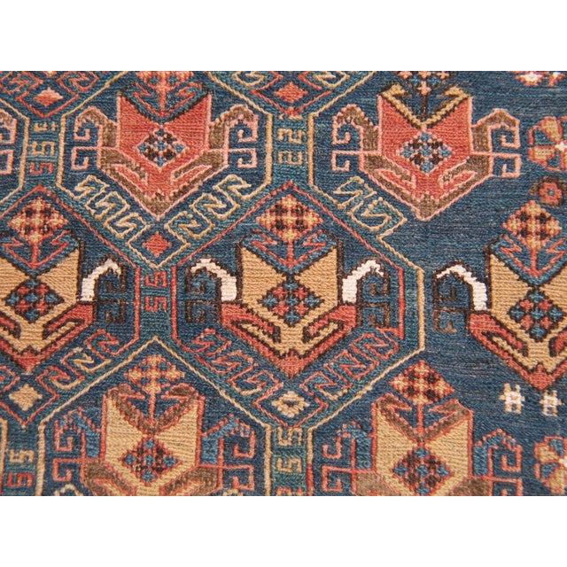 Textile Antique Sumak Runner For Sale - Image 7 of 7