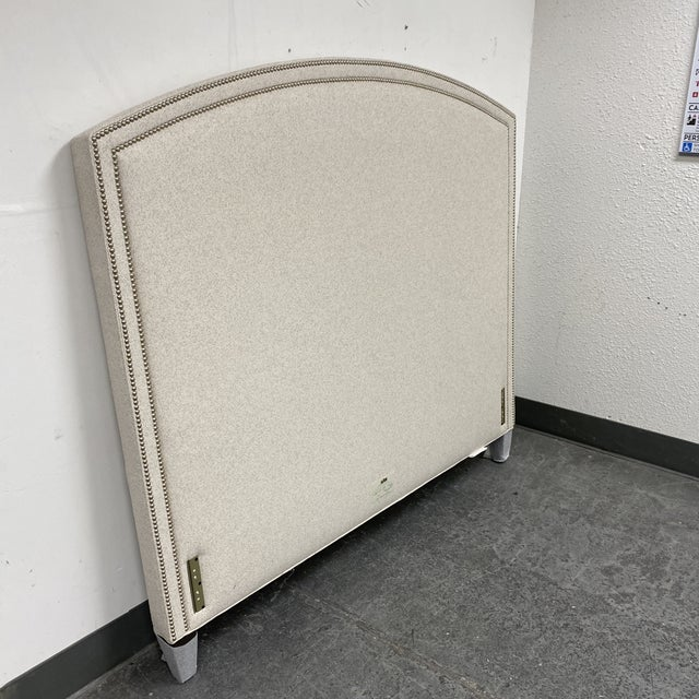 2010s Queen Size Lee Industries Arch Headboard For Sale - Image 5 of 13