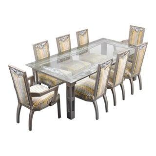 20th Century James Mont Dining Set - 9 Pieces For Sale