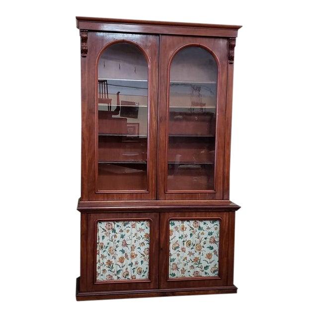 Victorian Mahogany & Glass Door Cabinet. For Sale