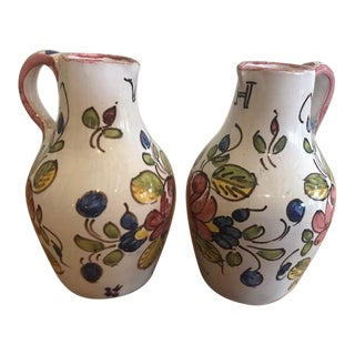 Small Vintage Italian Oil and Vinegar Pitchers - 2 Pieces For Sale
