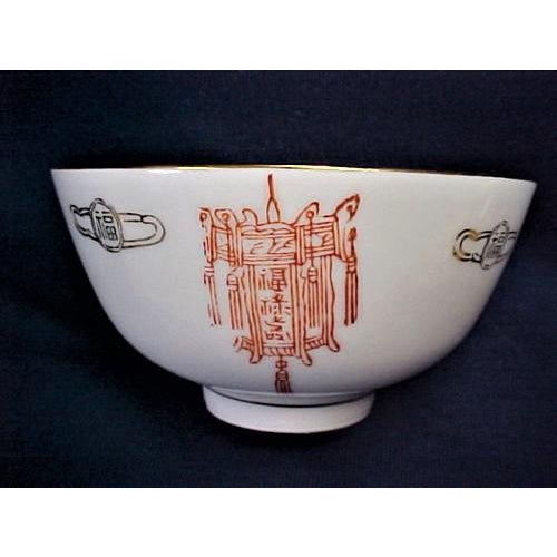 Asian Taiwanese Rice or Soup Bowls With Lantern Pattern - Set of 7 For Sale - Image 3 of 6