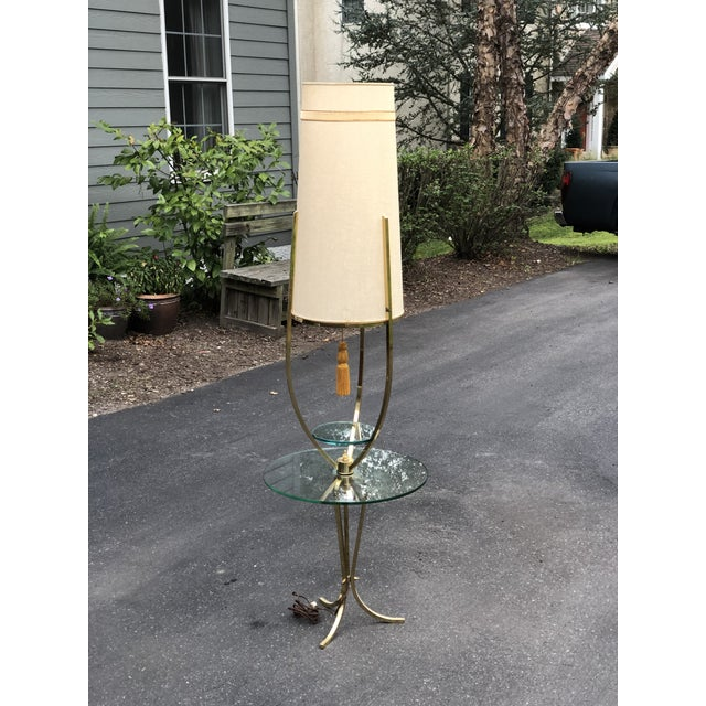 Mid Century Modern /Hollywood Regency Floor Lamp with Table For Sale - Image 12 of 12