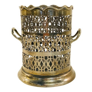 Early 20th Century Silver Plate Bottle Holder For Sale