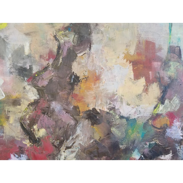 Abstract 1964 Mid-Century Modern Abstract Painting by BB For Sale - Image 3 of 4
