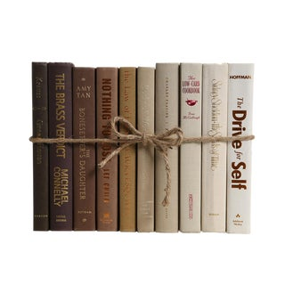 Modern Latte Ombré ColorPak : Decorative Books in Shades of Brown to Tan For Sale