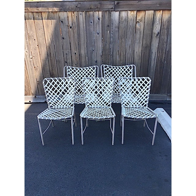 Great set of vintage Brown Jordan patio chairs. 2 arm chairs and 3 side chairs. Chairs are in good vintage condition....