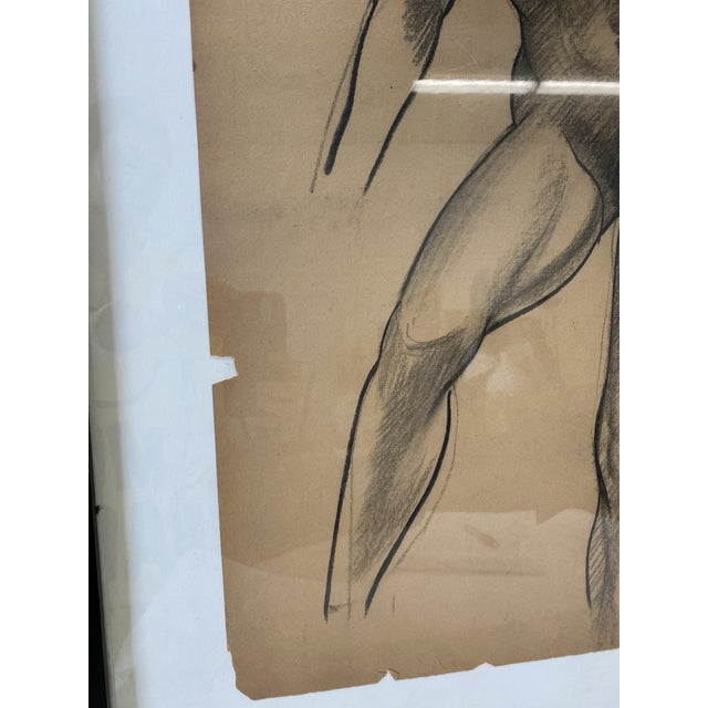 1930s Female Nude Figurative Drawing For Sale - Image 5 of 7