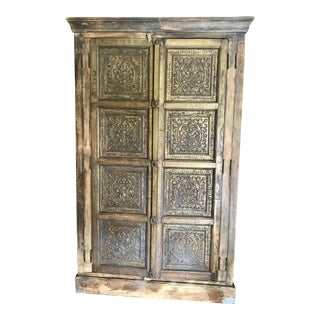 Early 20th Century Carved Wood Antique Armoire