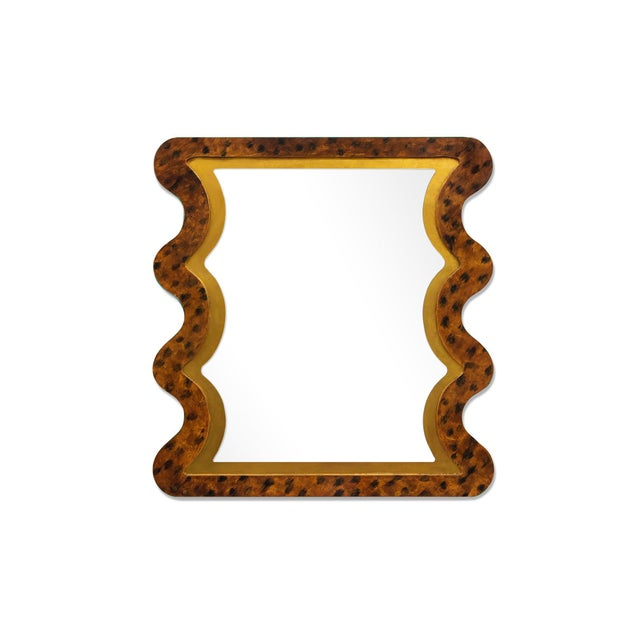 Contemporary Fleur Home x Chairish Carnival Mystic Rectangle Mirror in Tortoise, 24x36 For Sale - Image 3 of 4