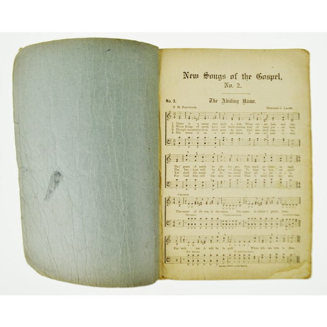 An Antique Printing of '1905 New Songs of the Gospel No. 2' Book For Sale In Philadelphia - Image 6 of 11
