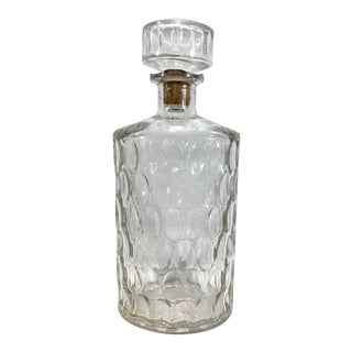 Midcentury Vintage Glass Decanter For Sale