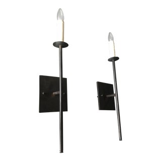 Darken Bronze Sconces - A Pair For Sale