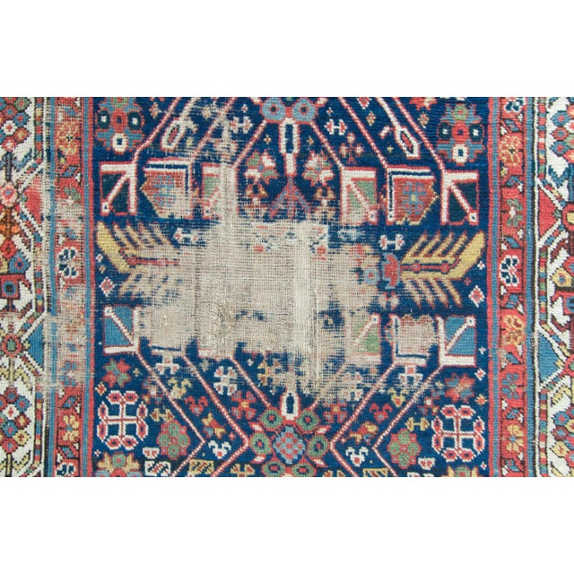 House of Séance - 20th Century Antique Caucasian Handwoven Rug - 3′1″ × 10′10″ For Sale In Los Angeles - Image 6 of 11