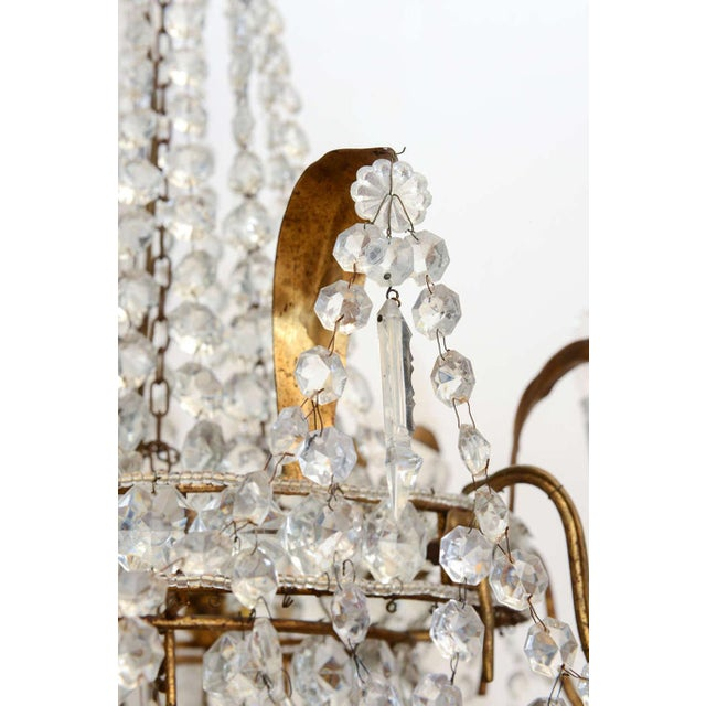 Gold Empire Form Crystal Chandelier For Sale - Image 8 of 10