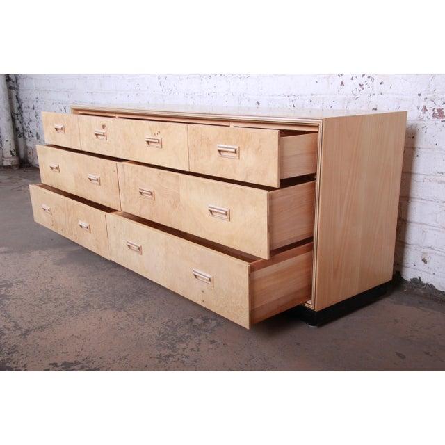 Burl Wood Long Dresser Credenza by Henredon For Sale In South Bend - Image 6 of 13
