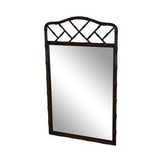 Henredon Faux Bamboo Vintage Wall Mirror For Sale