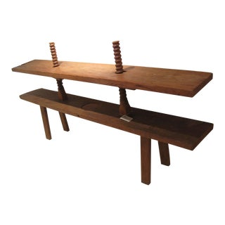 1900s Mexican Colonial Pine Carpenters Bench For Sale