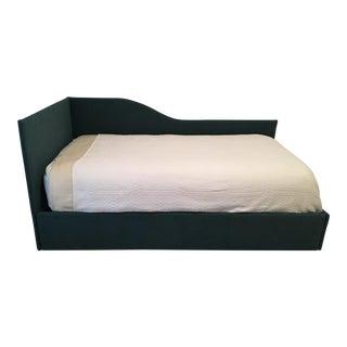 Modern Upholstered Dark Green Frame Daybed
