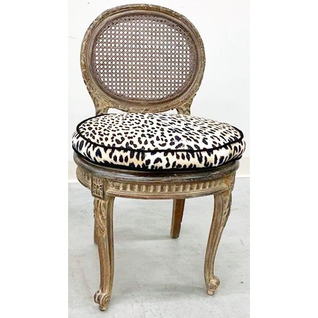 Late 19th Century Antique French Caned Child's Vanity Chair For Sale - Image 5 of 5
