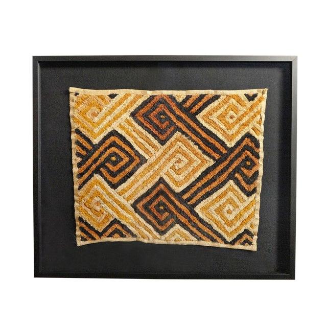 Kuba Shoowa Grass Textile Framed For Sale