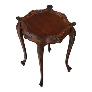 French Mahogany Side Table For Sale