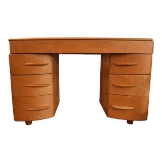 Mid-Century Modern Heywood Wakefield Maple Partner Desk For Sale