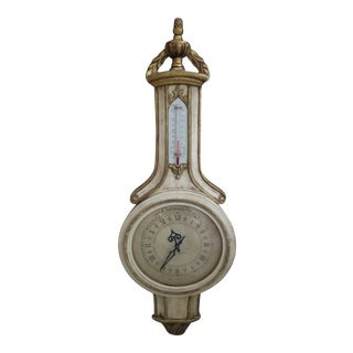 French Style Clock in Barometer Case For Sale